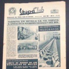 Coches y Motocicletas: REVISTA PERIODICO PUBLICACION - PORTAVOZ DEL VESPA CLUB DE ESPAÑA DE 1965 NUMERO Nº 97. Lote 54385248