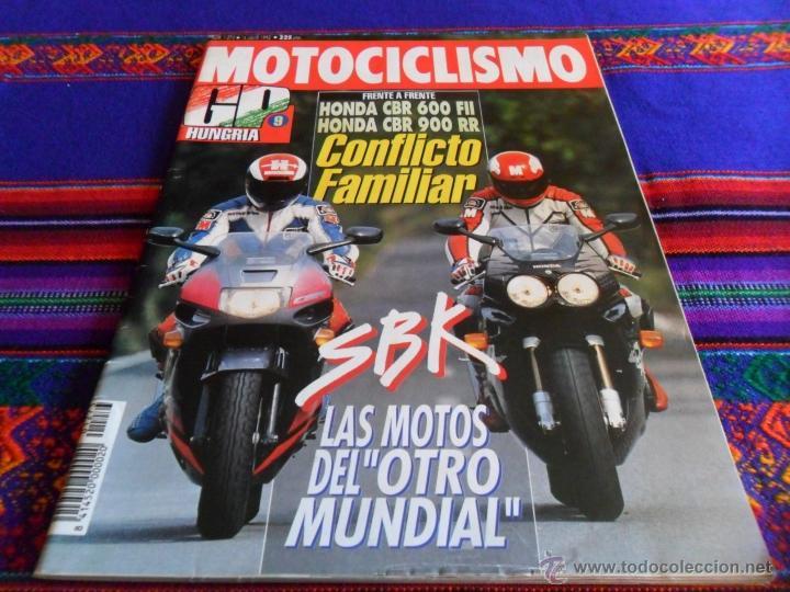 MOTOCICLISMO Nº 1273. 16-7-1992. 325 PTS. HONDA CBR 600 FII FRENTE 900 RR. MBE. (Coches y Motocicletas - Revistas de Motos y Motocicletas)