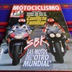 Coches y Motocicletas: MOTOCICLISMO Nº 1273. 16-7-1992. 325 PTS. HONDA CBR 600 FII FRENTE 900 RR. MBE.. Lote 54411124