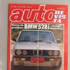 Coches y Motocicletas: LOTE DE 4 REVISTAS AUTO REVISTA. 1984.BMW. FORD. CITROEN. RENAULT. Lote 54432214