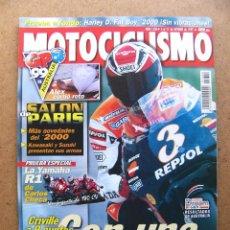 Coches y Motocicletas: MOTOCICLISMO Nº 1650 YAMAHA R1 CAGIVA V RAPTOR HARLEY DAVIDSON FLSTF FAT BOY SALON DE PARIS. Lote 54500974