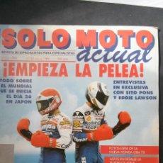 Coches y Motocicletas: SOLO MOTO ACTUAL Nº 672-1989-MUNDIAL-SUZUKI-MOTO VESPA-CAGIVA-EDDIE LAWSON-KRAM-IT-TARRES-(FOTOS). Lote 54621119