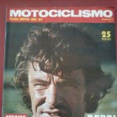 Coches y Motocicletas: MOTOCICLISMO 1ª QUINCENA ABRIL 1974, PRUEBA BULTACO SHERPA 350, PÓSTER AGOSTINI. Lote 54826163