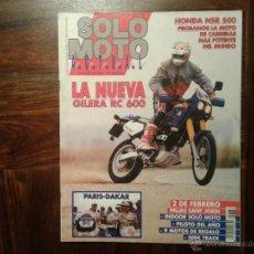 Coches y Motocicletas: SOLO MOTO ENERO´91 GILERA RC, HONDA NSR, KTM 80, PEUGEOT SV 125, PARIS - DAKAR. Lote 54831517