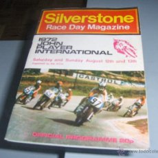 Coches y Motocicletas: SILVERSTONE RACE DAY MAGAZINE 1972 - OFFICIAL PROGRAMME 46 PÁGINAS. Lote 54910027