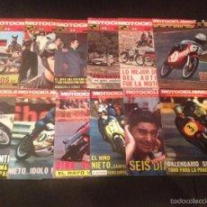 Coches y Motocicletas: MOTOCICLISMO AÑO 1970 COMPLETO - LOTE 12 REVISTAS - OSSA BULTACO MONTESA VESPA DERBI GUZZI LAMBRETTA. Lote 55157227