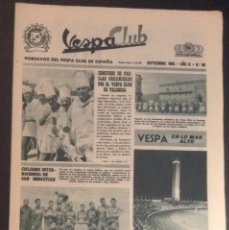 Coches y Motocicletas: REVISTA PERIODICO PUBLICACION - PORTAVOZ DEL VESPA CLUB DE ESPAÑA DE 1965 NUMERO Nº 99. Lote 55432410