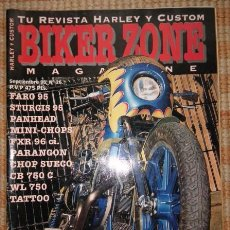 Coches y Motocicletas: BIKER ZONE MAGAZINE. SEPTIEMBRE 95 ; Nº 26. Lote 55859169