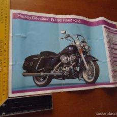 Coches y Motocicletas: CARRERAS DE MOTOS 43,5X24,5 GRAN POSTER MOTO - HARLEY DAVIDSON FLHRI ROAD KING. Lote 55878876