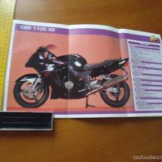 Coches y Motocicletas: CARRERAS DE MOTOS 43,5X24,5 GRAN POSTER MOTO - CBR 1100 XX. Lote 55878907