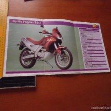Coches y Motocicletas: CARRERAS DE MOTOS 43,5X24,5 GRAN POSTER MOTO - APRILIA PEGASO 650. Lote 55878962