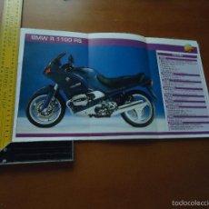 Coches y Motocicletas: CARRERAS DE MOTOS 43,5X24,5 GRAN POSTER MOTO - BMW R 1100 RS. Lote 55878989