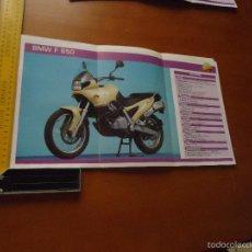 Coches y Motocicletas: CARRERAS DE MOTOS 43,5X24,5 GRAN POSTER MOTO - BMW F 650. Lote 55879000