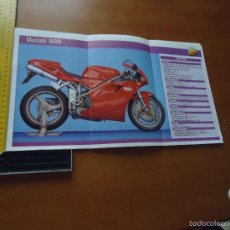 Voitures et Motocyclettes: CARRERAS DE MOTOS 43,5X24,5 GRAN POSTER MOTO - DUCATI 996. Lote 55879002