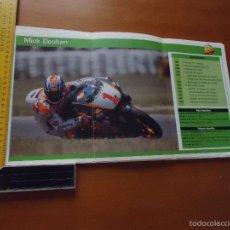 Coches y Motocicletas: CARRERAS DE MOTOS 43,5X24,5 GRAN POSTER MOTO - MICK DOOHAN REPSOL HONDA. Lote 143214321