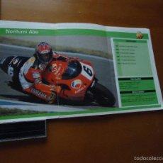 Coches y Motocicletas: CARRERAS DE MOTOS 43,5X24,5 GRAN POSTER MOTO - NORIFUMI ABE , ANTENA 3 , YAMAHA SHOEI . Lote 55879068