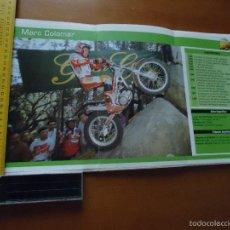 Coches y Motocicletas: CARRERAS DE MOTOS 43,5X24,5 GRAN POSTER MOTO - MARC COLOMER FORTUNA KARCHER. Lote 55879176