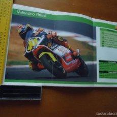Voitures et Motocyclettes: CARRERAS DE MOTOS 43,5X24,5 GRAN POSTER MOTO -VALENTINO ROSSI APRILIA. Lote 55879346