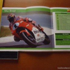 Coches y Motocicletas: CARRERAS DE MOTOS 43,5X24,5 GRAN POSTER MOTO - MAX BIAGGI , MALBORO CASTROL HONDA DUNLOP. Lote 55879354