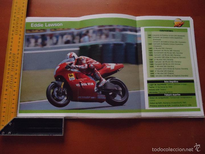 CARRERAS DE MOTOS 43,5X24,5 GRAN POSTER MOTO -EDDIE LAWSON CAGIVA DUNLOP (Coches y Motocicletas - Revistas de Motos y Motocicletas)