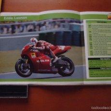Voitures et Motocyclettes: CARRERAS DE MOTOS 43,5X24,5 GRAN POSTER MOTO -EDDIE LAWSON CAGIVA DUNLOP . Lote 55879362