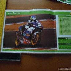 Coches y Motocicletas: CARRERAS DE MOTOS 43,5X24,5 GRAN POSTER MOTO - ALEX BARROS , MOVISTAR REPSOL HONDA. Lote 55879374