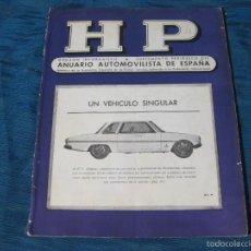 Coches y Motocicletas: REVISTA DE HP DEL ANUARIO AUTOMOVILISTA DE ESPAÑA. AÑO XVIII. Nº 87. Lote 56317263