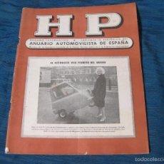 Coches y Motocicletas: REVISTA DE HP DEL ANUARIO AUTOMOVILISTA DE ESPAÑA. AÑO XVII. Nº 80. Lote 56317286