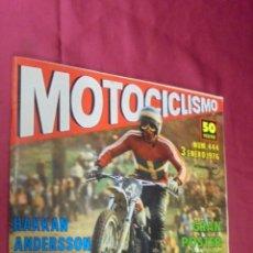 Coches y Motocicletas: MOTOCICLISMO. Nº 444. 3 ENERO 1976. MOTOCATALOGO 1976.. Lote 56839149