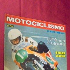 Coches y Motocicletas: MOTOCICLISMO. Nº 460. 22 MAYO 1976. PRUEBA: GUZZI LE MANS.. Lote 56843390