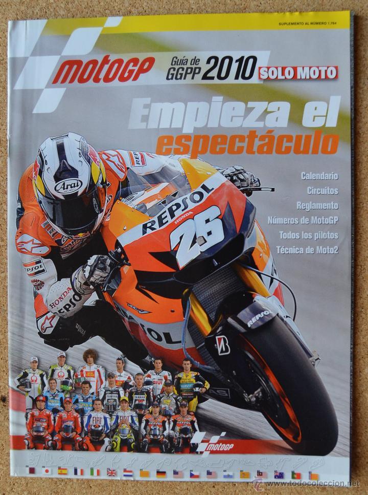 MOTO GP - GUIA GGPP 2010 - SOLO MOTO (Coches y Motocicletas - Revistas de Motos y Motocicletas)