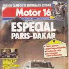 Coches y Motocicletas: REVISTA MOTOR 16 Nº 218 AÑO 1987. COMPARATIVA: ALFA 75 2.0 Y OPEL ASCONA 2.0 GT. . Lote 57706271