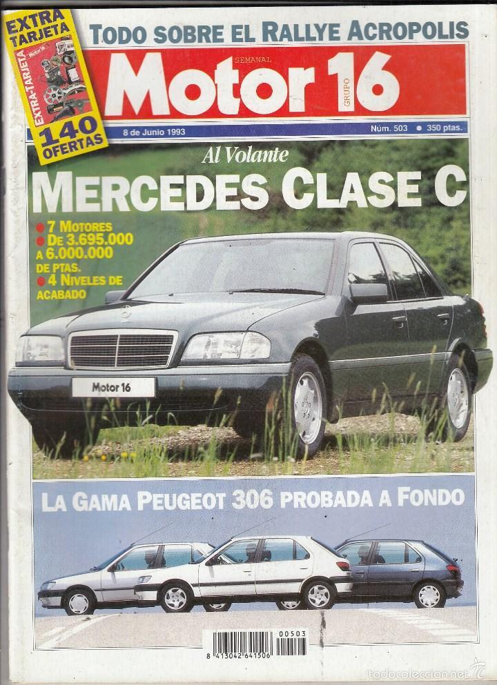 REVISTA MOTOR 16 Nº 503 AÑO 1993. PRUEBA: HONDA XRV 750 AFRICA TWIN. (Coches y Motocicletas - Revistas de Motos y Motocicletas)