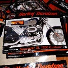 Coches y Motocicletas: LOTE DE 38 FASCÍCULOS CON PIEZAS PARA CONSTRUIR MINIATURAS DE HARLEY DAVIDSON. Lote 57886827