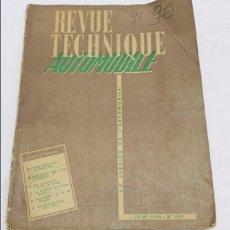 Coches y Motocicletas: REVUE TECHNIQUE AUTOMOBILE, MECANICA, MECANICA, N. 110, JUNIO DE 1955, ETUDE BUICK V, RENAULT EVOLUT. Lote 57898890