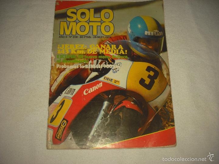 SOLO MOTO N° 208 , SEPTIEMBRE 1979,JEREZ (Coches y Motocicletas - Revistas de Motos y Motocicletas)