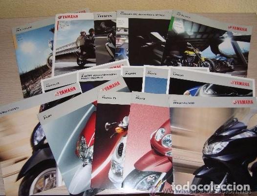 LOTE DE CATÁLOGOS Y FOLLETOS MOTOS YAMAHA - AÑOS 2006 - 2008 - 2009 (Coches y Motocicletas - Revistas de Motos y Motocicletas)