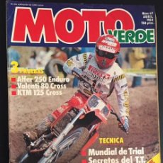 Carros e motociclos: REVISTA MOTO VERDE NUMERO Nº 69 ABRIL 1984 PK RIPPER ALFER 250 ENDURO VALENTI 80 CROSS KTM 125. Lote 62267080
