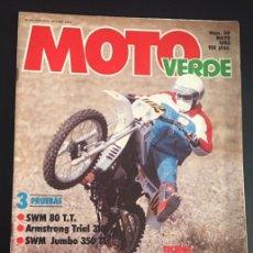 Coches y Motocicletas: REVISTA MOTO VERDE NUMERO Nº 58 MAYO DE 1983 PRUEBA BMX BH CALIFORNIA STAR. Lote 62271048