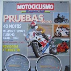 Coches y Motocicletas: ESPECIAL PRUEBAS MOTOCICLISMO 1989-1990. Lote 66447314