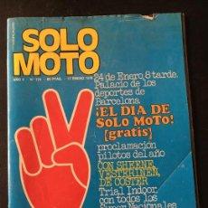 Coches y Motocicletas: REVISTA SOLO MOTO NUMERO Nº 124 DE 1978 SUZUKI 1000 GS LAQUAYE EVERTS DUO BULTACO 78. Lote 67496373