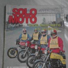 Coches y Motocicletas: REVISTA SOLO MOTO Nº 133 - 23 MARZO 1978. Lote 67577569