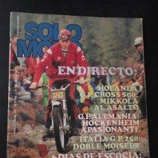 Coches y Motocicletas: REVISTA SOLO MOTO NUMERO Nº 89 DE 1977 . Lote 67643101