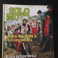 Coches y Motocicletas: REVISTA SOLO MOTO NUMERO Nº 76 DE 1977 MONTESA CAPRA 250 VB. Lote 67643301