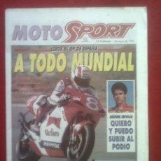 Coches y Motocicletas: SUPLEMENTO SPORT MOTO SPORT 8 1993. Lote 69243861