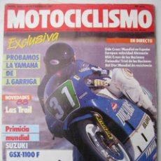 Coches y Motocicletas: REVISTA MOTOCICLISMO Nº 1022 - AÑO 1987 - FOTO SUMARIO - FZR 1000 EXUP - GILERA RC 600 - DR 650 RS -. Lote 130017940