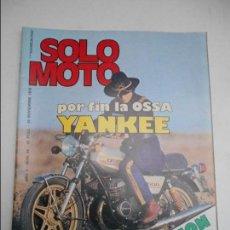 Coches y Motocicletas: SOLO MOTO NUM 65 DE 1976 ENSAYO OSSA YANKEE REPORTAJE YAMAHA XS 750 HARRY EVERTS BULTACO. Lote 69853721