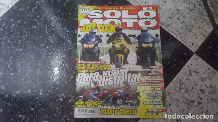 SOLO MOTO & OFF ROAD NUMERO 1303 MAYO 2001 (Coches y Motocicletas - Revistas de Motos y Motocicletas)