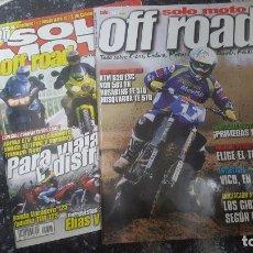 Coches y Motocicletas: LOTE 2 REVISTAS SOLO MOTO OFF ROAD NUMEROS 1303 MAYO 2001 Y 10 MAYO 2001. Lote 72386507