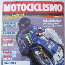 Coches y Motocicletas: REVISTA MOTOCICLISMO Nº 1022 - 1987 - FOTO SUMARIO - YAMAHA YZR 250 -. Lote 73942507
